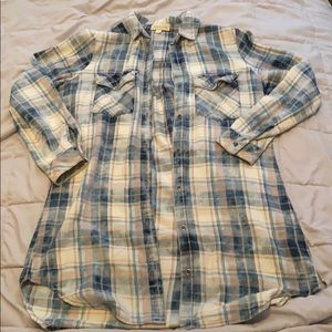 Flannel shirt. Long length.